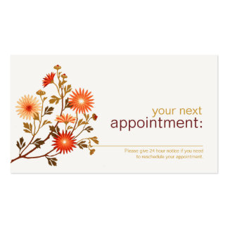 Cosmetology Beauty Floral Appointment Card Business Card Template