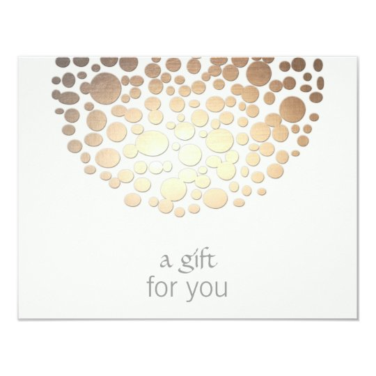 Cosmetology Gold Circles Spa Gift Certificate Card