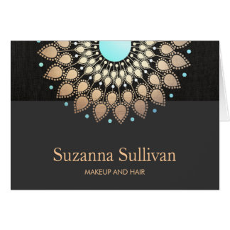 Cosmetology Holistic Salon and Spa Logo Card