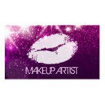 Cosmetology MakeUp Artist - Stylish Purple Glitter Pack Of Standard Business Cards