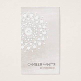 Cosmetology White Rosette Natural and Organic Spa Business Card