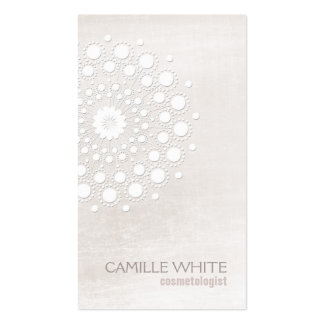 Cosmetology White Rosette Natural and Organic Spa Pack Of Standard Business Cards