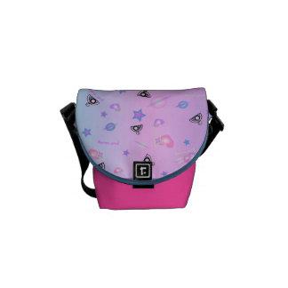 Cosmia Wheeling in Space: Eco Mini Messenger Bag