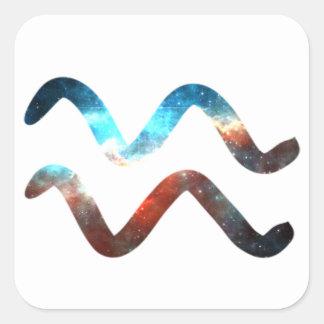 Cosmic Aquarius Square Sticker
