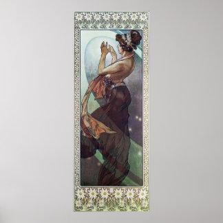 Cosmic Art Nouveau Poster