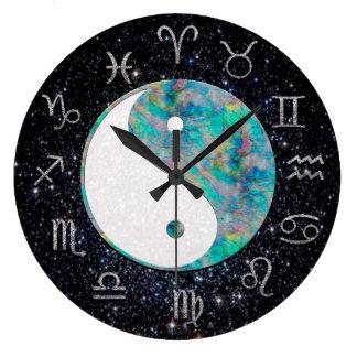 Cosmic Astrology Clock with Yin Yang