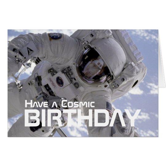 Cosmic Astronaut Birthday card