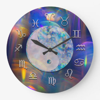 Cosmic Aura Astrology Clock with Yin Yang