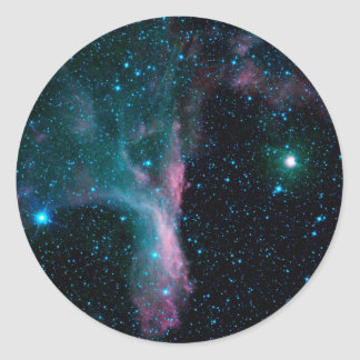 Cosmic Ballerina in space NASA Classic Round Sticker