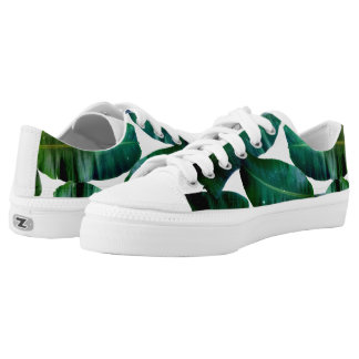 Cosmic Banana Leaves Zips Low Top Shoes Printed Shoes