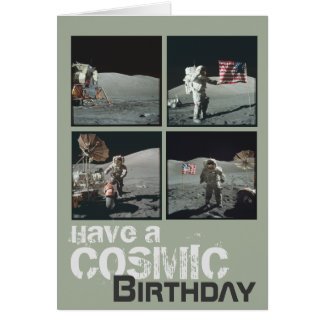 Cosmic Birthday Greeting Card