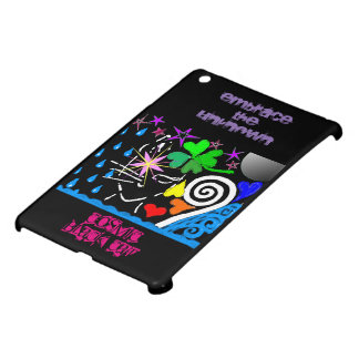 """Cosmic Black Cat"" Glossy iPad Mini Case"