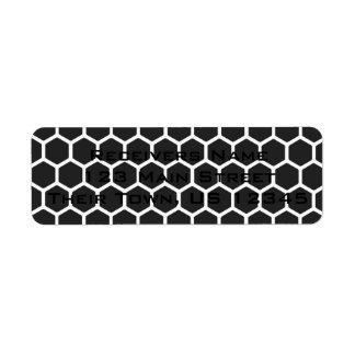 Cosmic Black Hexagon 2 Return Address Label