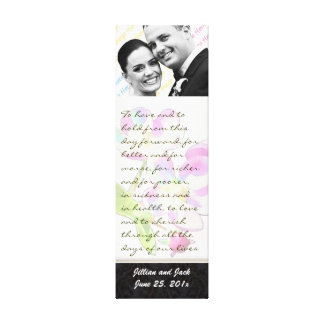 Cosmic Blossoms WEDDING VOWS Display Stretched Canvas Print