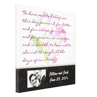Cosmic Blossoms WEDDING VOWS Display Gallery Wrapped Canvas