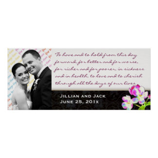 Cosmic Blossoms WEDDING VOWS Display Poster