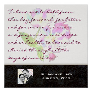 Cosmic Blossoms WEDDING VOWS Display Print