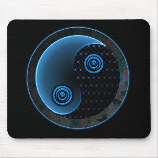 Cosmic Blue in Balance Yin Yang Mouse Mat