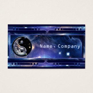 Cosmic Blue Yin Yang Business Card