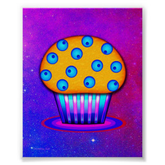 Cosmic Blueberry Muffin Poster