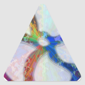 Cosmic Blueray Sparkling Jewels Triangle Sticker