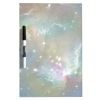 Cosmic Blues Pastel Space Art Dry Erase Board