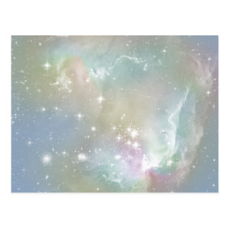 Cosmic Blues Pastel Space Art Postcard