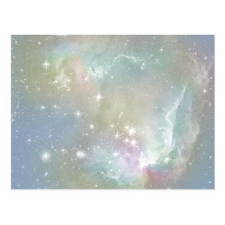 Cosmic Blues Pastel Space Art Postcard