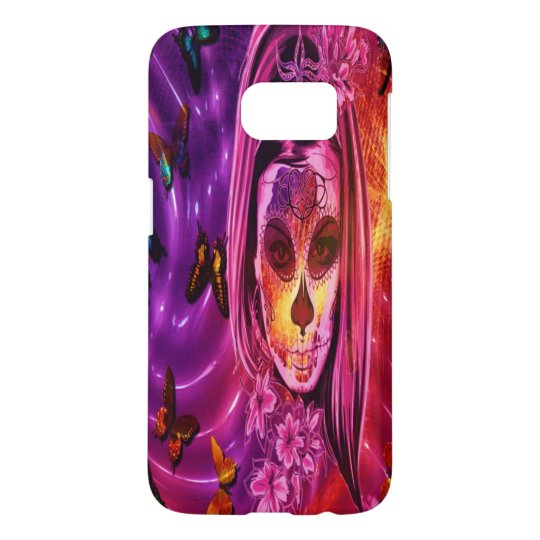 Cosmic butterfly and masked girl Samsung S7 case