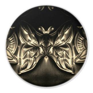 Cosmic Butterfly Embossing Art Ceramic Knob