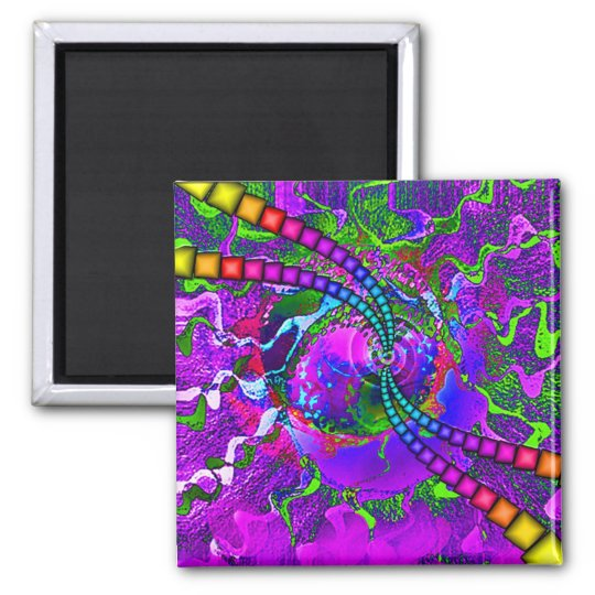 Cosmic Candy ! Square Magnet