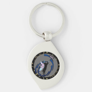 Cosmic Cat Dandelion Key Ring