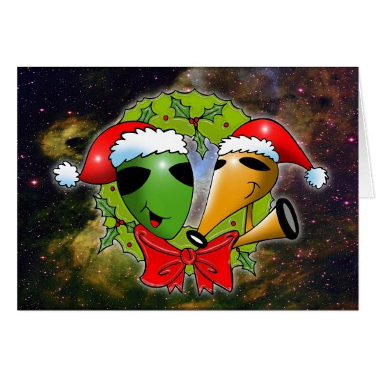 Cosmic Christmas by Gregory Gallo Greeting Card