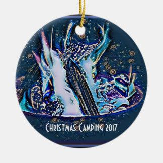 Cosmic Christmas Campfire 2017 Christmas Ornament