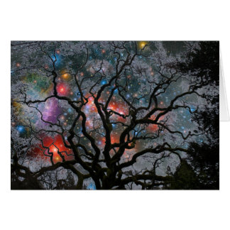 Cosmic Christmas Tree - 2 Greeting Cards