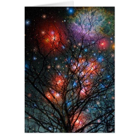 Cosmic Christmas Tree Card