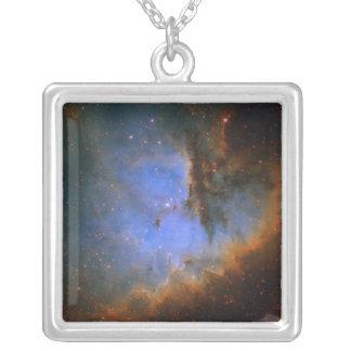Cosmic Cloud NGC 281 Square Pendant Necklace
