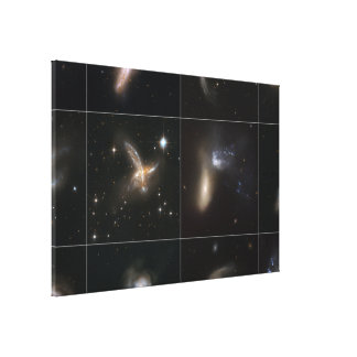 Cosmic Collisions Galore! Gallery Wrapped Canvas