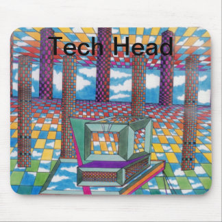 Cosmic Computer Tech Head by CricketDiane Mouse Pad