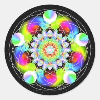 Cosmic Connector Round Sticker