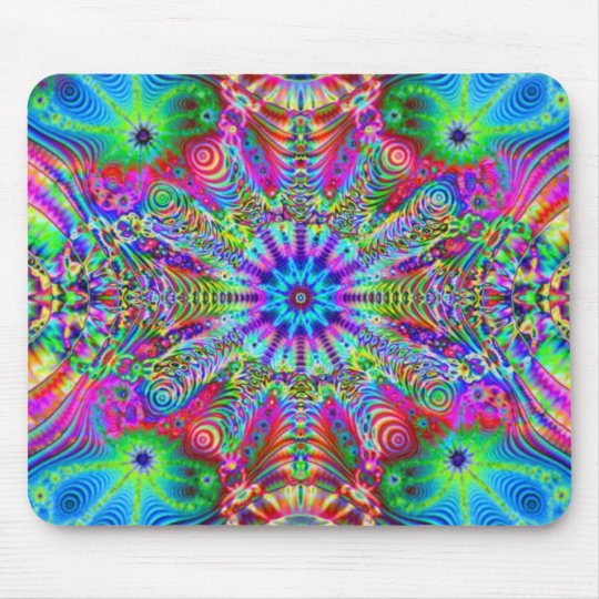 Cosmic Creatrip - Psychedelic trippy design Mouse Mat
