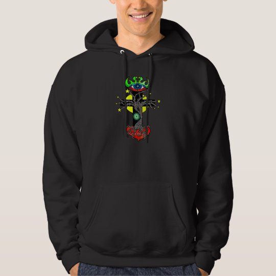Cosmic Cross Deluxe mens hoodie