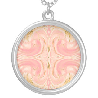 Cosmic Dance Necklace in marbled pink, pendant