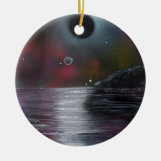 Cosmic Eclipse Round Ceramic Decoration