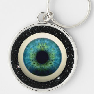 COSMIC EYE (A great novelty item!) ~ Silver-Colored Round Key Ring