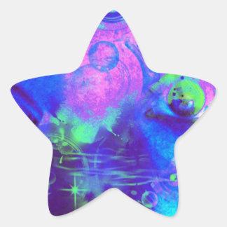 Cosmic eyes print star stickers