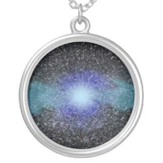 Cosmic Fireworks Silver Plated Necklace