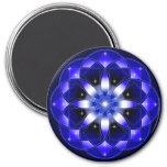 Cosmic Flower 7.5 Cm Round Magnet