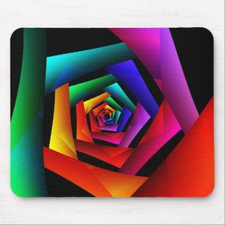 Cosmic FlowerCute Cool Modern Abstract Art Mouse Mat