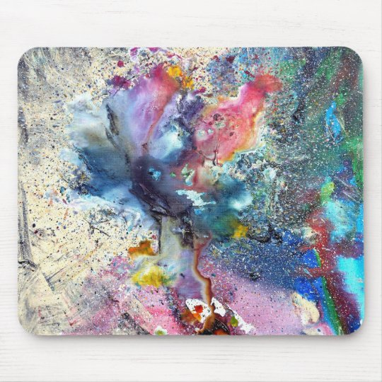 Cosmic Flower Mouse Mat